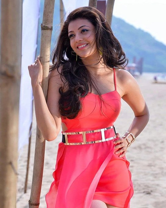 kajal aggarwal Latest red dress, kajal aggarwal, kajal aggarwal hot red dress,