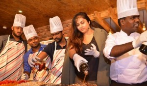 Namitha at Christmas Cake Mixing Ceremony held at Chennai (1)