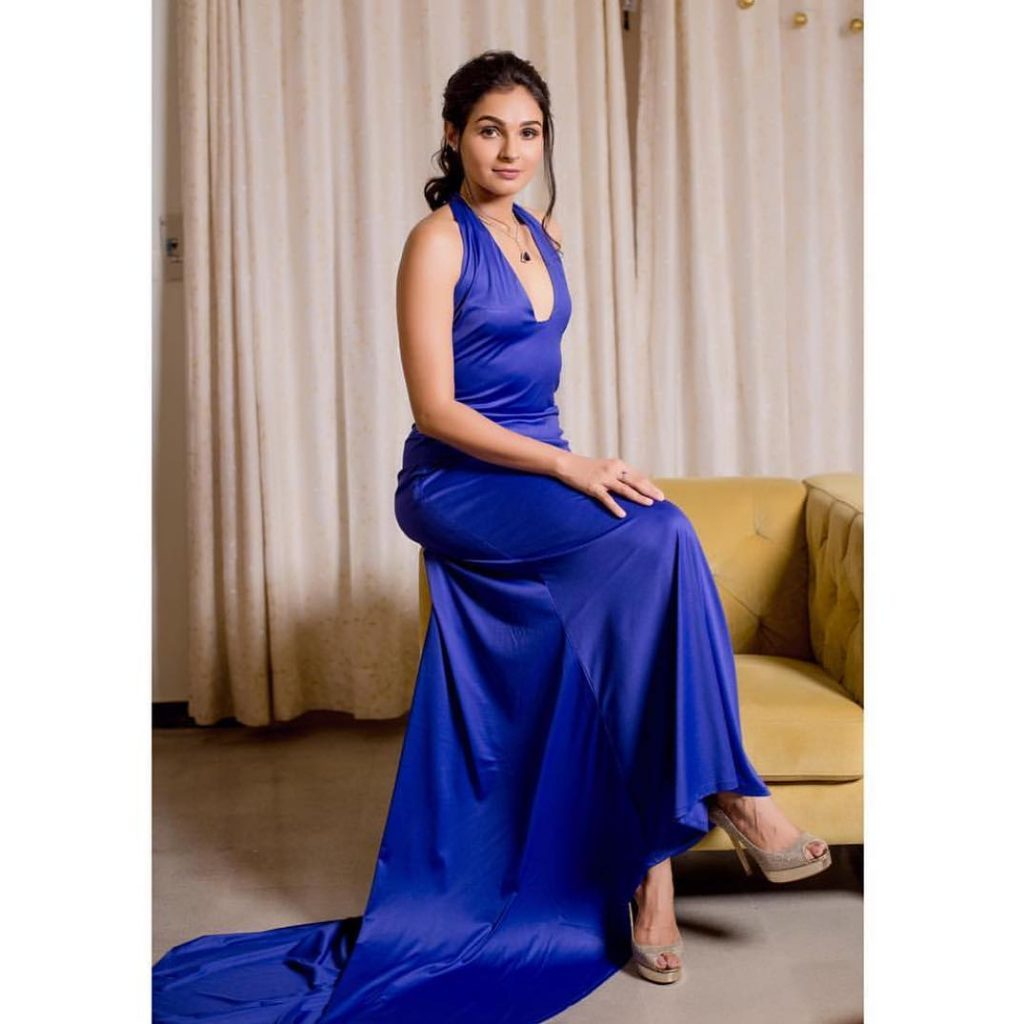 Andrea Jeremiah Blue Dress-stills
