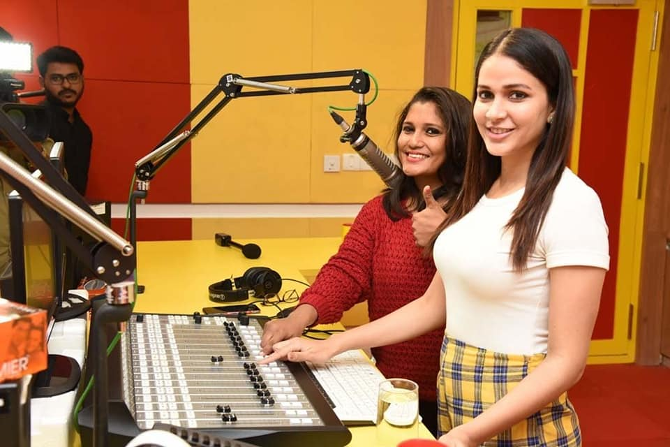 LavanyaTripathi at radio mirchi ArjunSuravaram Song Launch